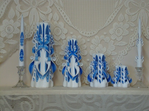 All blue carved