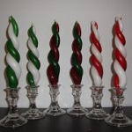 Holiday Twisty Tapers